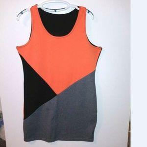 Color Block stretchable shift dress plus Size